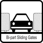 Bi-Parting Slide Gates and Slide Gate